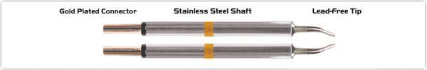 "Thermaltronics M70TZ018 Tweezers Cartridge Pair - Long Reach Chisel 1.78mm (0.07"")"