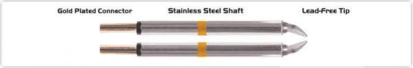 "Thermaltronics M70TZ018B Tweezers Cartridge Pair - Chisel 1.78mm (0.07"")"