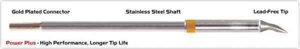 "Thermaltronics M7CB012H Chisel Bent 30deg 1.2mm (0.05""), Power Plus"