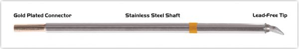 """Thermaltronics M7CB225 Chisel Bent 30deg 1.78mm (0.07"""") interchangeable for Metcal STTC-198"""