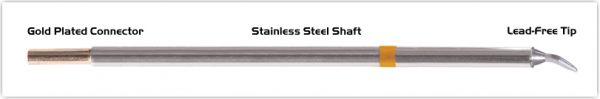 """Thermaltronics M7CB226 Chisel Bent 30deg 1.5mm (0.06"""") interchangeable for Metcal STTC-199"""