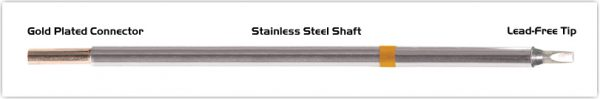 """Thermaltronics M7CH175 Chisel 30deg  2.5mm (0.10"""") interchangeable for Metcal STTC-136"""