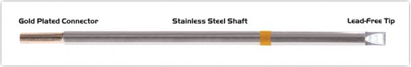 """Thermaltronics M7CH250 Chisel Extra Large 5.0mm (0.20"""") interchangeable for Metcal STTC-117"""