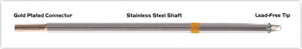 """Thermaltronics M7CP200 Chisel 30deg 2.5mm (0.10"""") interchangeable for Metcal STTC-136P"""
