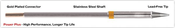 "Thermaltronics M7CS014H Conical Sharp 1.4mm (0.055""), Power Plus"
