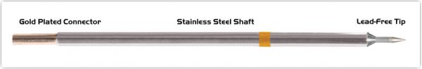 """Thermaltronics M7CS150 Conical Sharp 0.4mm (0.016"""") interchangeable for Metcal STTC-106"""