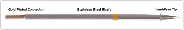 """Thermaltronics M7CS155 Conical Sharp 0.5mm (0.02"""") interchangeable for Metcal STTC-143"""