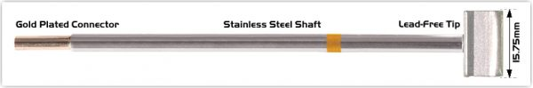 """Thermaltronics M7LB126 Blade Tip 15.75mm (0.62"""") interchangeable for Metcal SMTC-161"""