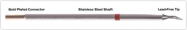 "Thermaltronics M8B325 Bent Sharp 30deg 0.4mm (0.016"") interchangeable for Metcal STTC-840"