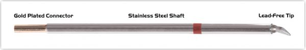 """Thermaltronics M8CB225 Chisel Bent 30deg 1.78mm (0.07"""") interchangeable for Metcal STTC-898"""
