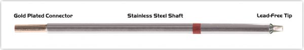 """Thermaltronics M8CP200 Chisel 30deg 2.5mm (0.10"""") interchangeable for Metcal STTC-836P"""