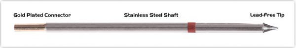 """Thermaltronics M8CP303 Conical Sharp 1.0mm (0.04"""") interchangeable for Metcal STTC-801P"""