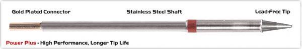"Thermaltronics M8CS014H Conical Sharp 1.4mm (0.055""), Power Plus"