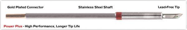 "Thermaltronics M8DS035H Knife 3.50mm (0.138""), Power Plus"