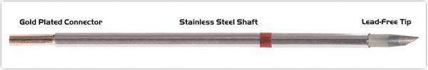 "Thermaltronics M8DS525 Hoof 60deg 3.3mm (0.13"") interchangeable for Metcal SMTC-8147"