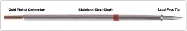 "Thermaltronics M8DS529 Hoof 60deg 1.52mm (0.06"") interchangeable for Metcal SMTC-8167"