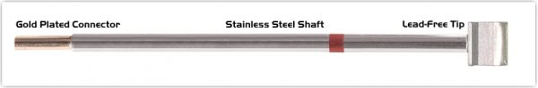 """Thermaltronics M8LB125 Blade Tip 10.41mm (0.41"""") interchangeable for Metcal SMTC-860"""