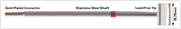 """Thermaltronics M8LB126 Blade Tip 15.75mm (0.62"""") interchangeable for Metcal SMTC-861"""