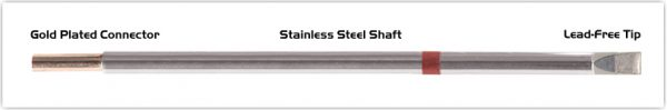 """Thermaltronics M8LC650 Chisel Extra Large 5.0mm (0.20"""") interchangeable for Metcal STTC-865"""