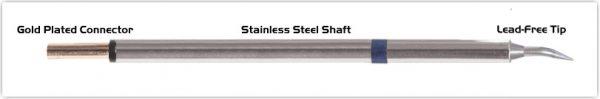 "Thermaltronics PM60B325 Bent Sharp 30deg 0.4mm (0.016"") interchangeable for Metcal STP-CNB04"