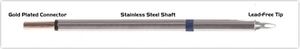 """Thermaltronics PM60CH177 Chisel 30deg 1.5mm (0.06"""") interchangeable for Metcal STP-CH15"""