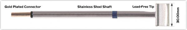 "Thermaltronics PM60LB128 Blade Tip 30.0 mm (1.18"")"