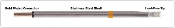 """Thermaltronics PM75LC650 Chisel Extra Large 5.0mm (0.20"""")"""