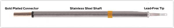 "Thermaltronics PM75LR403 Chisel 60deg Long Reach 1.78mm (0.07"") interchangeable for Metcal SFP-CHL20"