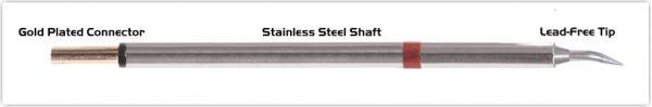 "Thermaltronics PM80B325 Bent Sharp 30deg 0.4mm (0.016"") interchangeable for Metcal SCP-CNB04"