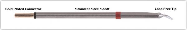 """Thermaltronics PM80CB226 Chisel Bent 30deg 1.5mm (0.06"""") interchangeable for Metcal SCP-CHB15"""