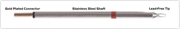 """Thermaltronics PM80CH176 Chisel 30deg 1.78mm (0.07"""") interchangeable for Metcal SCP-CH20"""