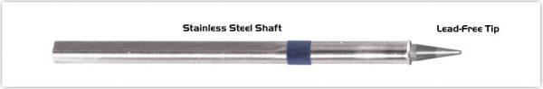 """Thermaltronics S60CP010 Conical Sharp 1.0mm (0.04"""") interchangeable for Metcal SSC-606P"""